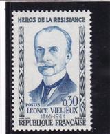 1251a Léonce Vieljeux Héros De La Résistance F De Française Rallongé Neuf Impeccable - Nuovi