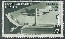 1934 REGNO POSTA AEREA MONDIALI DI CALCIO 5 LIRE MH * - RE18-2 - Airmail