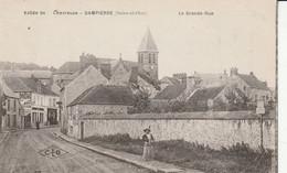 DAMPIERRE   La Grande Et Rue Et Le Château - Dampierre En Yvelines
