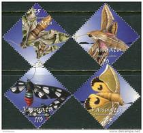 Vanuatu 2003. Mi.#1196/99 MNH/Luxe. Fauna. Insects. Butterflies Moths (Ts20/B46) - Vanuatu (1980-...)