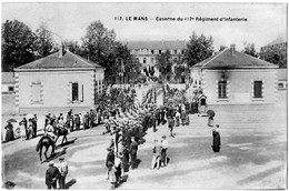 Le Mans Sarthe Sortie Du 117 ème Régiment Infanterie Défilé 1930 état Superbe - Le Mans