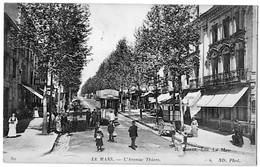 Le Mans Sarthe Animation Tramway Boutiques Avenue Thiers 1910  état Superbe - Le Mans