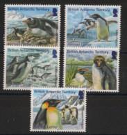 British Antarctic Territory / BAT - 2014 - N°Yv. 627 à 631 - Manchots - Complete Set - Neuf Luxe ** / MNH / Postfrisch - Pinguini