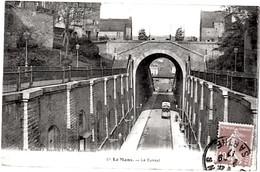 Le Mans Sarthe Animation Tramway Tunnel 1917  état Superbe - Le Mans