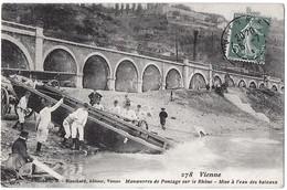 Vienne Isère Manœuvre Pontage Rhone 1910  état Superbe - Vienne