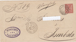 """1887 Veneto, Piego Srnza Interno Con Annullo GC E Numerale A Sbarre Di """"Bassanello Padova"""", Arrivo Al Retro, Non Comune. - Non Classificati"""