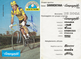 CARTE CYCLISME MORENO ARGENTIN SIGNEE 1983 ( COUPE FORMAT 20 X 29,5, VOIR PHOTO DEL ANNONCE ) - Cycling