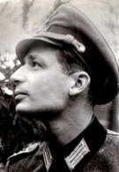 Photo Originale Guerre 1939/45 - Portrait D'un Profil De Soldat De La Wehrmacht - Guerre, Militaire