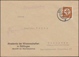 Orts-Drucksache Akademie Der Wissenschaften In GÖTTINGEN 23.11.43 Nach Hannover - Other