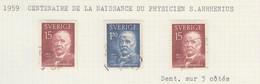 SUEDE USED YVERT 444/45 & 444a Svante Arrhenius - Used Stamps