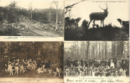 10839 Lot De 4 CPA Chasse à Courre - Hunting