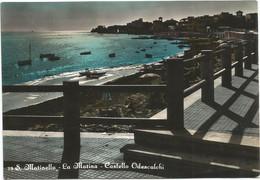 A5759 Santa Marinella (Roma) - La Marina E Castello Odescalchi - Panorama / Viaggiata 1954 - Other Cities
