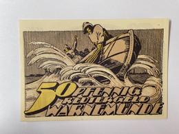 Allemagne Notgeld Warnemunde 50 Pfennig - Collections