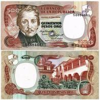 COLOMBIA 500 PESOS 1984 P 423b - UNC - Colombia