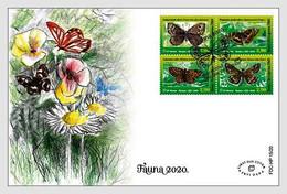 Bosnia And Herzegovina Mostar 2020 FDC Yellow-Banded Skipper Dalmatian Argus  Insects Butterflies Butterfly - Butterflies