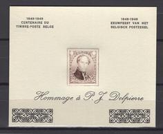 E 56DI PROEF DELPIERRE HERDRUK 1950  POSTFRIS** DIK PAPIER - Commemorative Labels