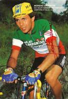 CARTE CYCLISME MORENO ARGENTIN SIGNEE TEAM SAMMONTANA 1983 - Cycling