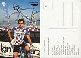 CARTE CYCLISME SILVANO RICCO SIGNEE TEAM TERMOLAN 1983 - Cycling