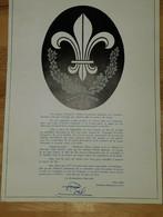 """Calendrier""""RESTAURATION NATIONALE 1970""""fleur De Lys""""H.Comte De Paris""""J.D'Arc""""Maurras""""Lyautey""""La Gueuse""""Action Française - Big : 1961-70"""
