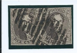 OCB 6 Of 10 - In Paar Met Afstempeling OUEST - 1849-1865 Medaillen (Sonstige)