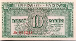 Czechoslovakia 10 Korun, P-69s (4.4.1950) - UNC - Specimen - Czechoslovakia