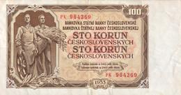 Czechoslovakia 100 Korun, P-86b (1953) - Very Fine - Czechoslovakia
