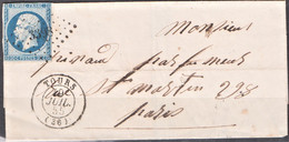 Lettre Du 9 Juillet 1855  PC  3398 Tours(Dept 36) - 1849-1876: Klassik