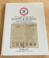 "6 Auktionskataloge ( Feldman ""Egypt"", Corinphila ""Egypt&Sudan"", Rapp ""Slg. TICINO"" , Moormann ) - Catalogues For Auction Houses"
