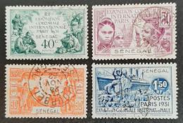 SENEGAL     Exposition Coloniale Paris 1931     N° Y&T  110 à 113  (o) - Usados