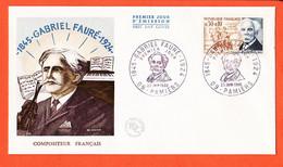 VaQ182 ⭐ FDC Gabriel FAURE 1845-1924 Compositeur Français Premier 1er Jour PAMIERS 09-Ariège 25 Juin 1966 F.D.C - 1960-1969