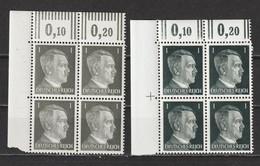 Adolf Hitler  MiNr. 781 A+b ** Oberrand Bogenecken  (0243) - Neufs