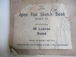 Oude Niet Gesigneerde Schetsboek - Popular Art