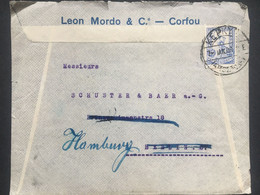 GREECE 1901 Cover Corfu To Berlin Re-directed To Hamburg - Unclassified
