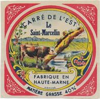 ETIQUETTE DE FROMAGE  NEUVE CARRE DE L'EST LE SAINT MARCELLIN HAUTE MARNE - Cheese