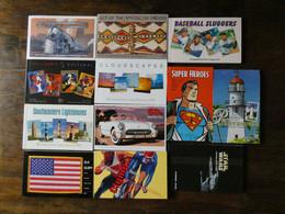 ETATS UNIS USA  220 Stamped Postal Cards  Voiture, Sport, Star Wars  12 Carnets Tous Différents - 2001-10