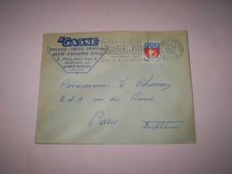 Enveloppe Commerciale H. GAGNE Dépôt D'essence Shell épicerie à La Ferté Bernard , Flamme La Ferté Bernard 1965 - 1950 - ...