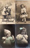 DC1002 - Schöne Motivkarte Lot 4 Karten Mädchen Kinder, Belles Cartes Postales, Femmes, Belles Dames, Jeunes Filles - Abbildungen