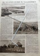 DE VLASNIJVERHEID IN VLAANDEREN ..1931..DE LEIESTREEK BADENDE VLASHEKKENS / MODEST HUYS - Unclassified