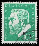 Bund 1955, Michel# 209 O Oskar Von Miller (1855-1934) - Usados