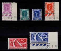 YV 322 à 327 N** Complete Exposition Internationale De Paris 1937 Cote 125 Euros - Ungebraucht
