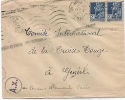 ALGERIE  -LETTRE D' ALGERIE POUR LA SUISSE -C à D : CONSTANTINE /15 Fev 43 +(A X )= Censure Allemande à PARIS - Briefe U. Dokumente