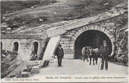 1910circa-strada Del Sempione Cascata Sopra La Galleria Sulla Strada Napoleonica - Verbania