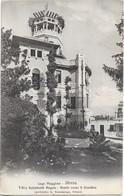 1917-Novara Lago Maggiore Stresa Villa Galimberti Angelo Fronte Verso Il Giardino, Bollo Rosso Di Censura Militare - Novara
