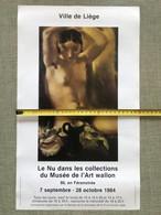 LE NU DANS LES COLLECTIONS DU MUSEE D'ART WALLON LEON DEVOS  NU AUX BRAS LEVES 84 - Posters
