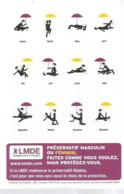 F80 Cpa / CARTE CPM Publicitaire PUB Advertising Card Cart'com  Publicité PRESERVATIFS Parapluie LMDE - Música Y Músicos