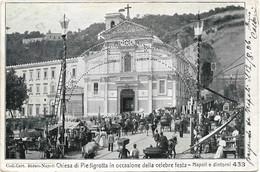 1906- Napoli Chiesa Di Piedigrotta, Viaggiata - Napoli (Naples)
