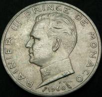 MONACO 5 Francs 1960 - Silver - Rainier III - VF+ - 1960-2001 Neue Francs