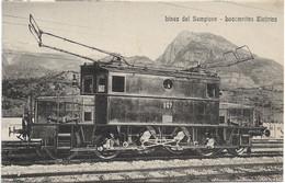 1930circa-Novara Linea Del Sempione Locomotiva Elettrica - Novara