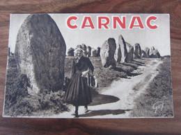 Carte Postale Carnac Alignements Mégalithiques De Kermario - Dolmen & Menhirs