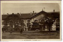 Dpt 45 Montargis La Gare, Un Autocar Animee 1914 EV TBE Sepia - Altri Comuni